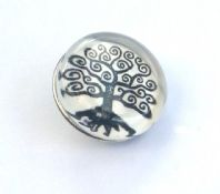 Swirly Tree Design Press Stud